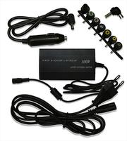 Зарядное устройство универсальное для ноутбука с авто зарядкой.