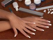 Наращивание акриловых ногтей на типсах